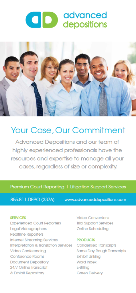 Advanced Depositions Retractable Banner